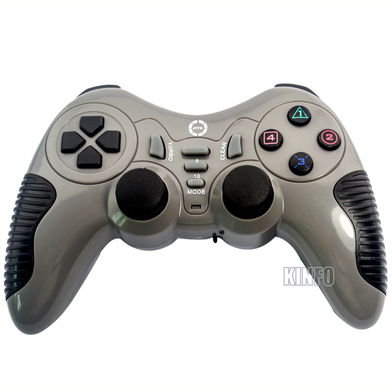 2014 Wireless 3-in-1 2.4GHz Double Shock Gaming Controller Gamepad for PC PS2 PS3 Gray BCG11-P1922(China (Mainland))
