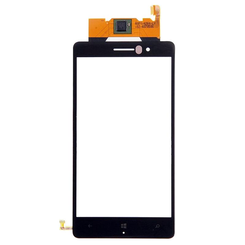 Для Nokia Lumia 830 Черный Сенсорного Экрана Digitizer Панель Стеклянный объектив nokia 6700 classic illuvial