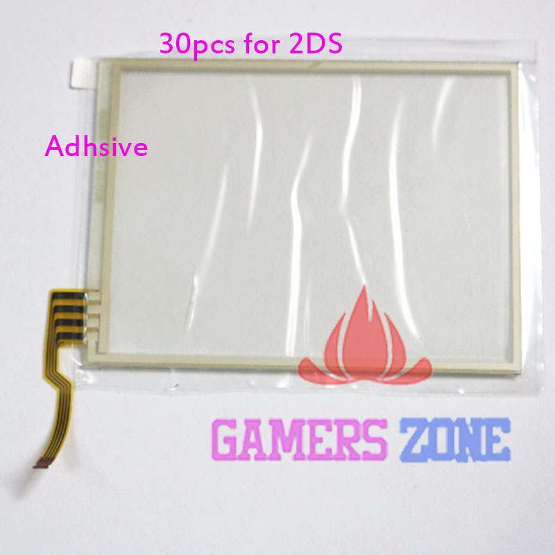 30pcs for Nintendo 2DS Bottom Touch Screen Digitizer Repair Part Unit(China (Mainland))