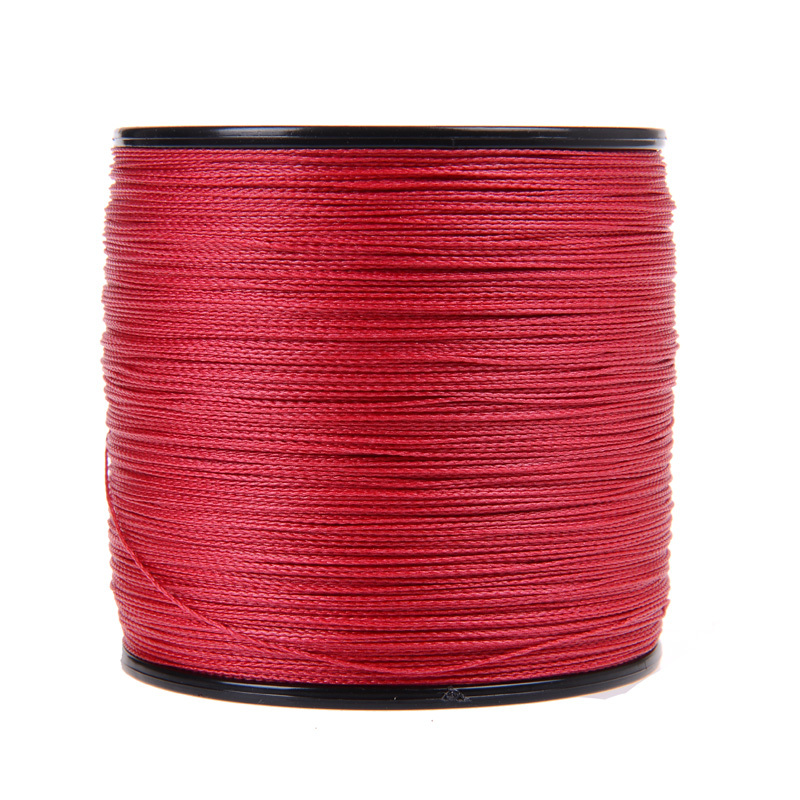 New Japan Multifilament 100% PE supper strong  Braided Fishing Line 1000M  4strands  red color 6LB -80LB<br><br>Aliexpress