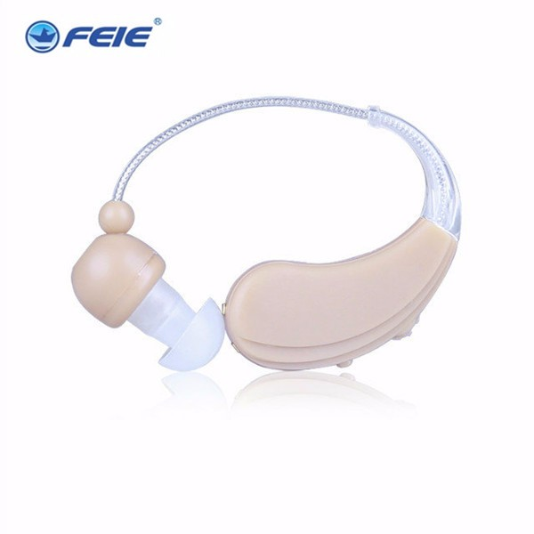 Electronic headset FEIE best sound voice mini device rechargeable headset BTE hearing aid  S-109S free shipping cost
