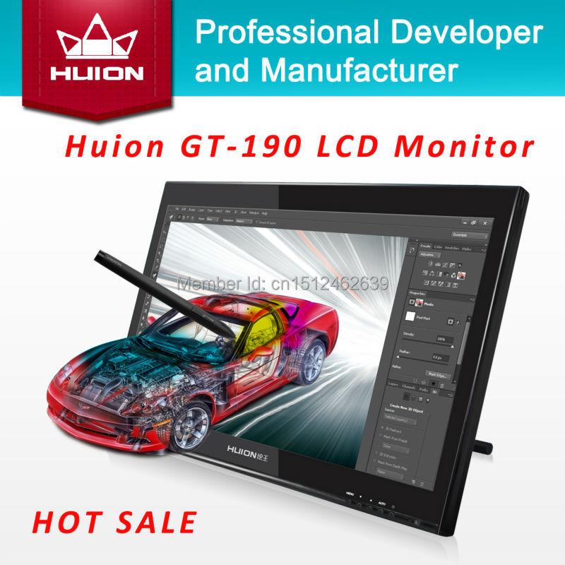 Huion GT-190 19-inch TFT LCD Monitor Touchscreen Monitors Interactive Pen display Deaktop Monitor Digital Tablet Monitor Black