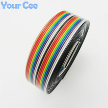 Buy 5m/lot 1.27mm Spacing Pitch 20 WAY 20 pin Flat Color Rainbow Ribbon Cable Wire Stranded Conductor PCB DIY for $6.99 in AliExpress store