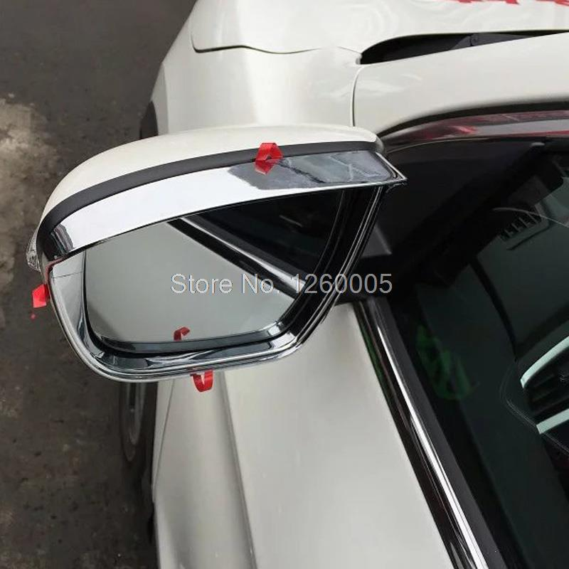 Fit for NISSAN MURANO 2017 2017 abs chrome back Mirror Guard Rearview mirror car-styling Rain Shade Awnings shelters
