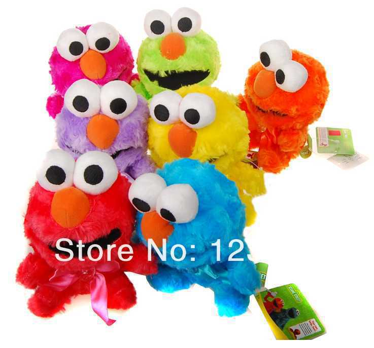 Pelucia Genuine Original Elmo Sesame Street Plush Toy Doll 7 Colors , 10-18CM(China (Mainland))