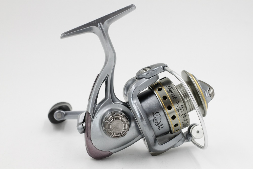Factory Wholesale Best quality Cheap Ocean ice Fishing Reel 7BB+1RB Spinning Reels Lake River Carreto de pesca Fishing Wheel(China (Mainland))