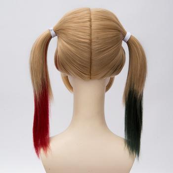 [DC Universe] 45cm Short Harleen Quinzel Harley Quinn Color Mixed Costume Wig