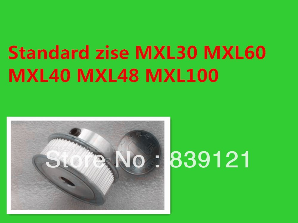 cnc Timing pulley MXL30 ID6 6.35mm Stocked offerdrawing can