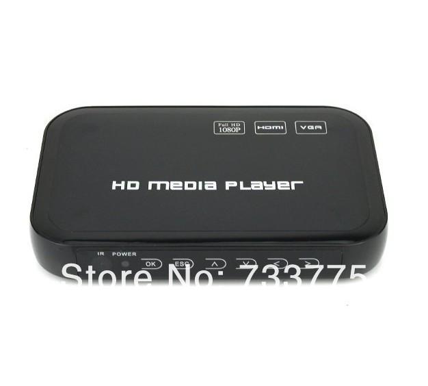 1080P Full HD HDD Media Player INPUT SD/USB/HDD Output HDMI/AV/VGA/AV/YPbpr Support DIVX AVI RMVB MP4 H.264 FLV MKV Music Movie(China (Mainland))