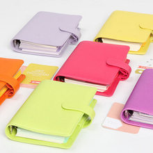 dokibook personal A5 &A6 8 different color leather loose-leaf planner leather notebook with double pen cap