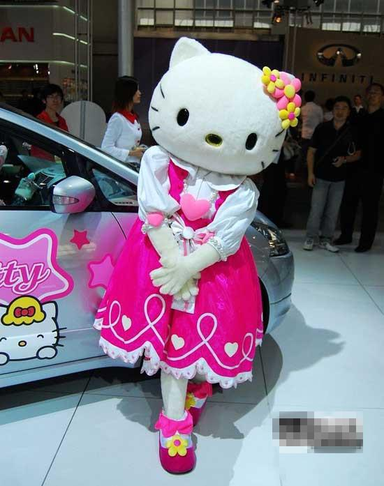 Factory direct sales Hello Kitty Plush Cartoon Character Costume mascot Custom Products free delivery(China (Mainland))