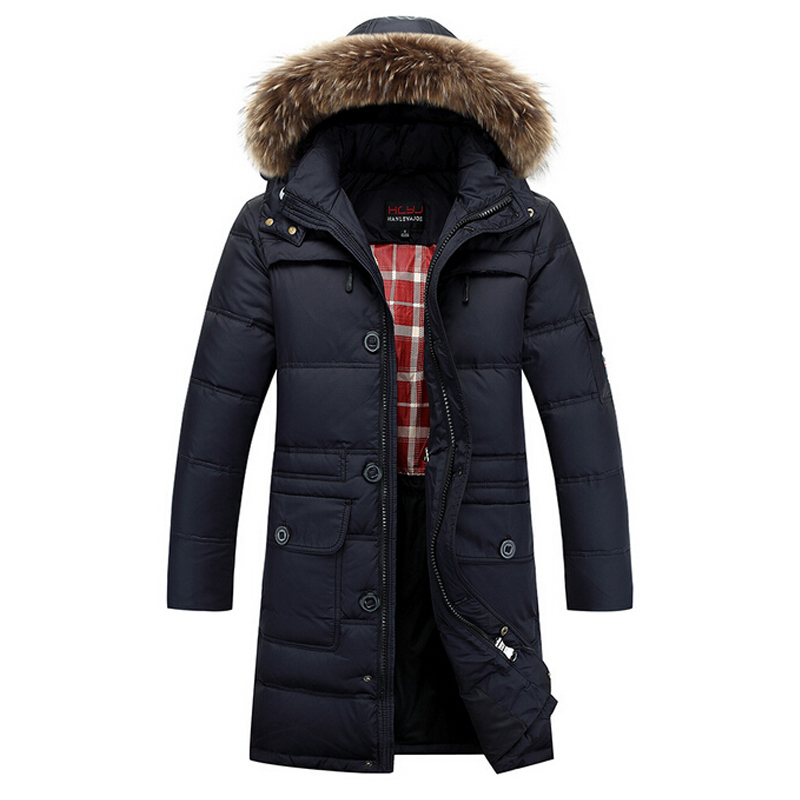 Winter Jacket Men 2015 Warm Duck Down Waterproof Fur Collar Parkas Hooded Coat Outdoor Sportswear Down-Jacket SMW355