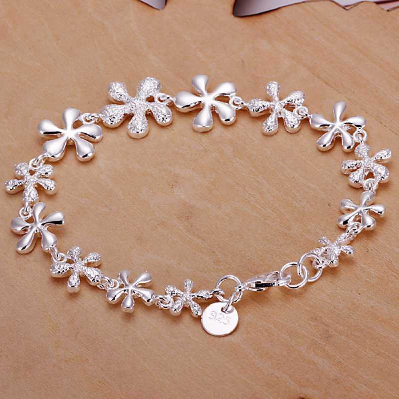 Free shipping 925 sterling silver jewelry bracelet fine fashion club bracelet top quality wholesale and retail SMTH156(China (Mainland))
