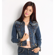 special offer all-match denim jacket old handsome small coat pocket long sleeved coat of conventional single row goblin(China (Mainland))