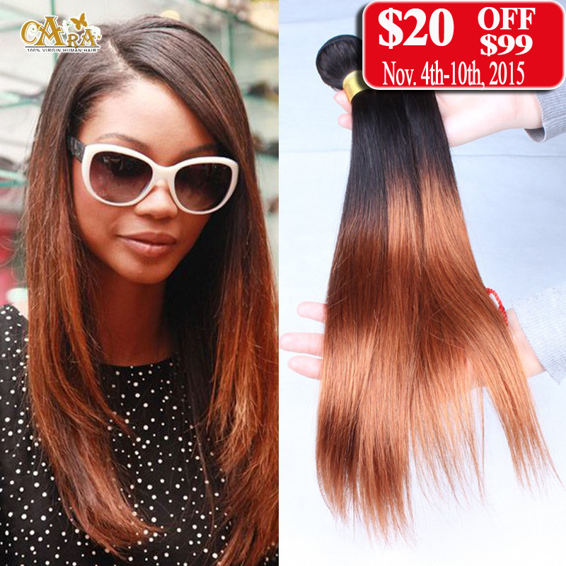 Ombre Brazilian Hair 10-26 3Pcs/Lot 100% Human Ombre Hair Extensions Brazilian Virgin Hair Straight Weave Rosa Hair Products <br><br>Aliexpress