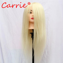100% Real Hair Mannequin Head Hairdresser Training Head Mannequin Head For Hairdresser Hairdressing Dolls Head