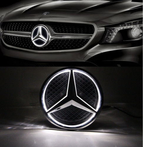 Free shipping Illuminated LED Light Car Front Grille Grill Star Emblem Badge for Mercedes-Benz<br><br>Aliexpress