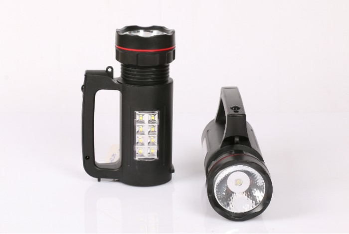 Portable solar flashlight LED rechargeable flash light portable searchlight Lamp Hiking, camping, hunting,(China (Mainland))