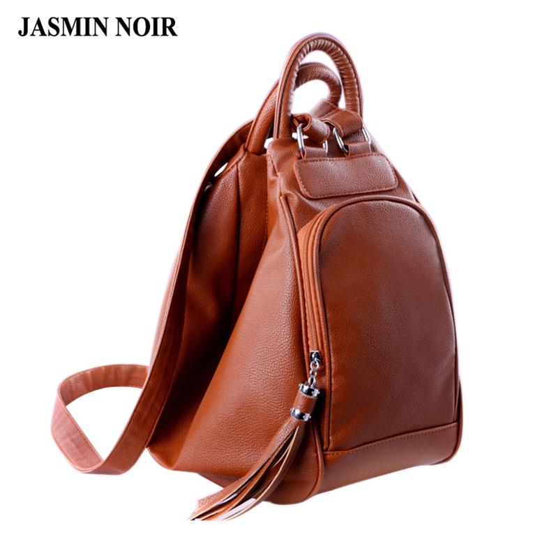 women's bag 2016 summer new orange leather backpacks shoulder bag casual shoulder bag multifunction women tote bag backpacks(China (Mainland))