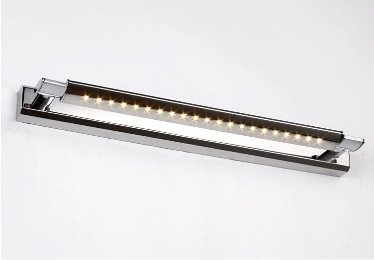 Фотография 7W Waterproof Led Mirror Light AC110V-220V Stainless Steel Bathroom LED Lamp Y-491
