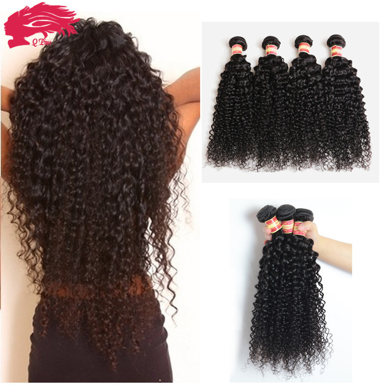 Virgin Indian Deep Curly Hair 4Pcs Curly Weave Human Hair 7A Unprocessed Virgin Hair Cheap Virgin Indian Curly Hair 100g Bundles(China (Mainland))