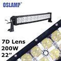 Oslamp 7D 22inch Curved Led Work Light Bar Daytime Running Light Combo 200W Offroad Driving Light