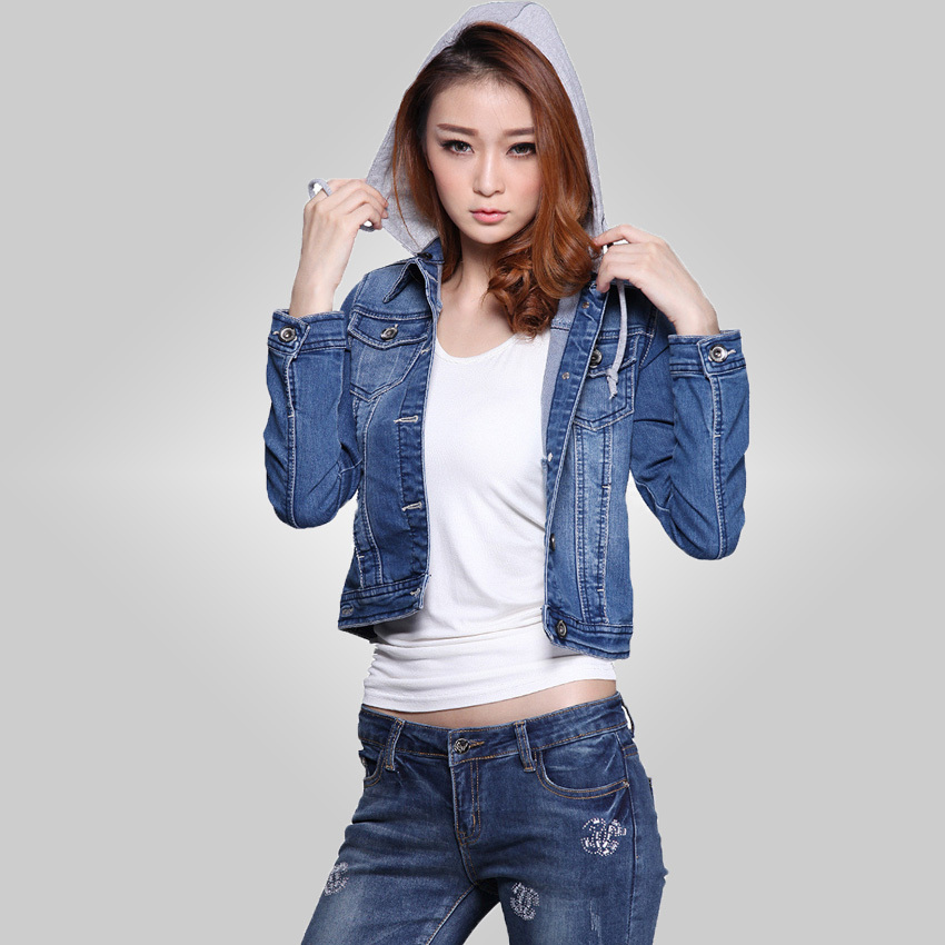 Free shipping Women Demin Jackets Coat Female 2015 Autumn New Fashion Brand Casual Solid Slim Jeans Jackets For Women 72zmlОдежда и ак�е��уары<br><br><br>Aliexpress