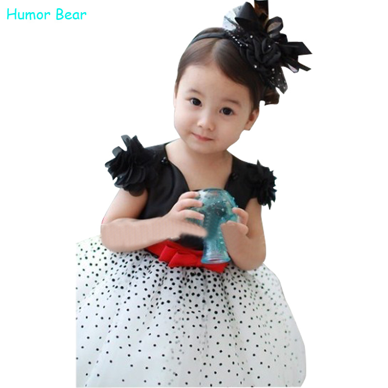 Humor Bear girls' dresses summer casual baby girls dresses fashion dress kids clothing(China (Mainland))
