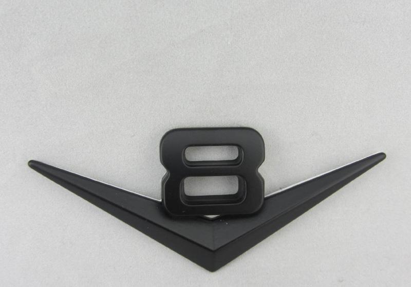 Car SUV Black V8 Metal Sticker for Jeep MUSTANG GT CS cobra shelby V8 Emblem Decal Badge(China (Mainland))