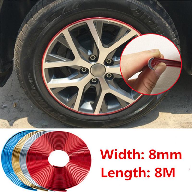 8M Car Chromium Plated Exterior Rim Grill Headlight Sticker Wheel Hub Protector Motorcycle Decal For Kia Toyota BMW Audi Hyundai(China (Mainland))