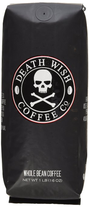 Death Wish Whole Bean Coffee The World s Strongest Coffee Fair Trade and USDA Certified Organic