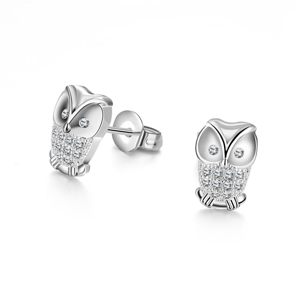 Charms Owl Earrings Studs For Women Earings Turkish Fashion Jewelry Austrian Crystal Earrings For Girls Brincos De Festa Ake-9(China (Mainland))