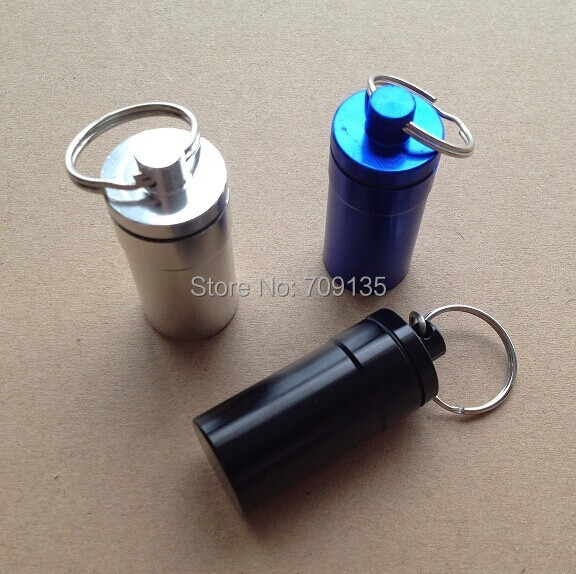 5PCS/LOT outdoor camping EDC tool aluminium waterproof bottle metal pill case holder(China (Mainland))