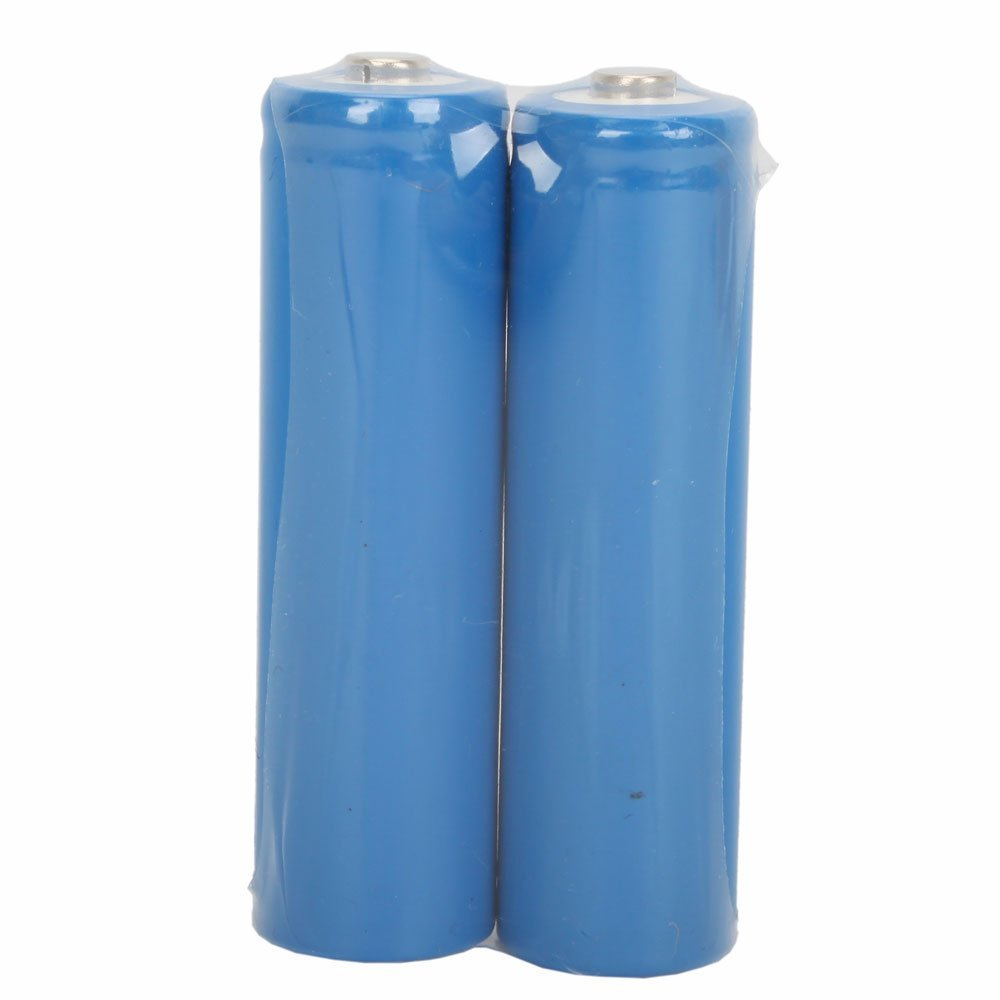 2Pcs 3.7V 1200MAH 14500 Lithium Battery Blue(China (Mainland))