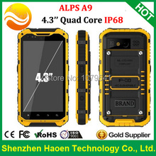 DHL Free 4.3 Inch Quad core 2G Ram Waterproof Phones with 16G Rom GPS Android4.4 3G WCDMA Heavy Duty Military Outdoor NFC phones(China (Mainland))