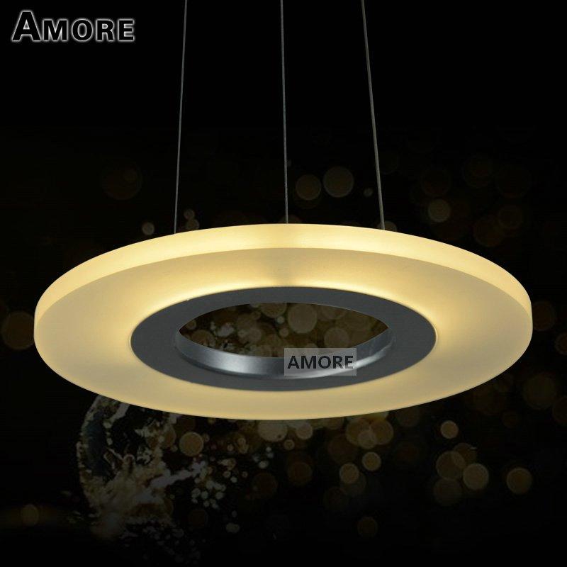 2015 Rushed Pendant Lamp Acrylic Round Ring Lighting