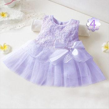 Летняя мода, Стиль Новорожденный Ребенок платья Девушки для Свадьбы Бантом Принцесса Младенческой Платье Детей Дети Девушка Платье