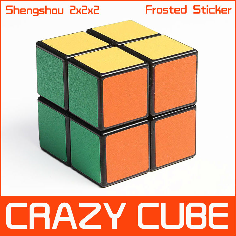 Shengshou Black Frosted Sticker 2x2x2 Speed Spring Puzzle 2x2 Magic Cube Toy Cubes Twist Rare - Crazy store