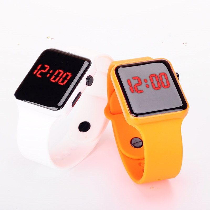 Fashion Mirror Dial Digital LED Watch Women and Men Digital Touch Screen Colorful Silicone Men Wrist watch for GIFT Watch(China (Mainland))