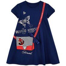 ילדים שמלה עבור בנות בגדי 100% כותנה 2019 מותג קיץ מסיבת נסיכת שמלת פעוט Vestidos ילדי בגדים לילדים 2-7Y(China)