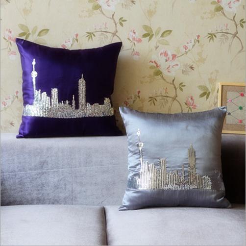 mode pailletten stickerei kissen kissen sofa r ckenpolster. Black Bedroom Furniture Sets. Home Design Ideas