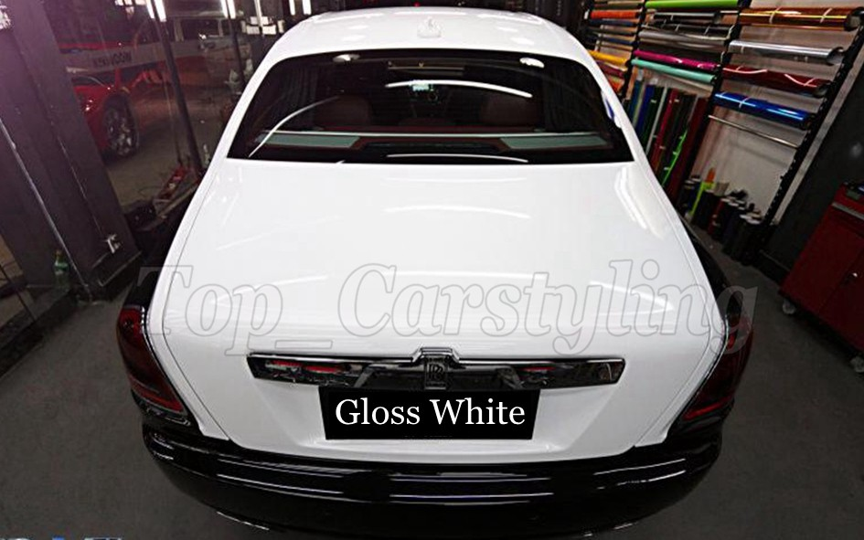 3 LAYERS ICE WHITE CAR WRAPPING FILM WITH AIR BUBBLE FREE (4)