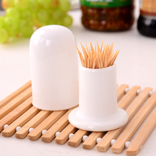Quality ceramic toothpick tube white fashion ceramic toothpick tube toothpick box toothpick bottle(China (Mainland))