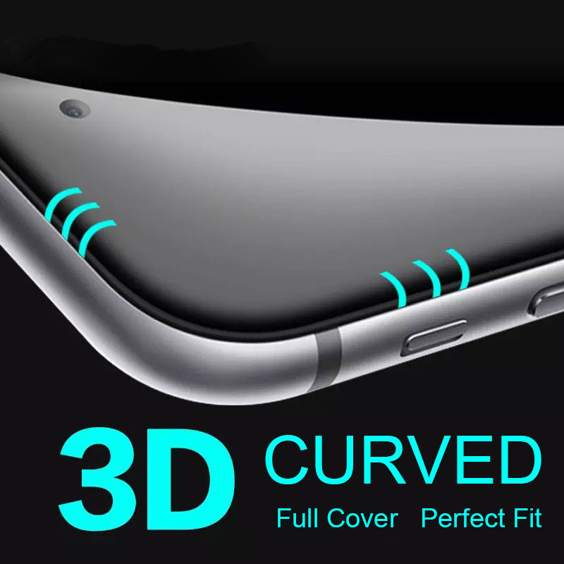 50PCS 3D 0 3mm Full Curved Arc Edge Tempered Glass Film font b Screen b font