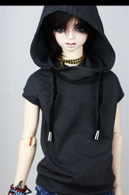 Buy Super Cool Sleeveless Hoodies T Shirt BJD doll 1/4,1/3,SD16,SD17,Uncle,SSDF SD LUTS DOD AS DZ Doll Clothes CMB7 for $16.50 in AliExpress store