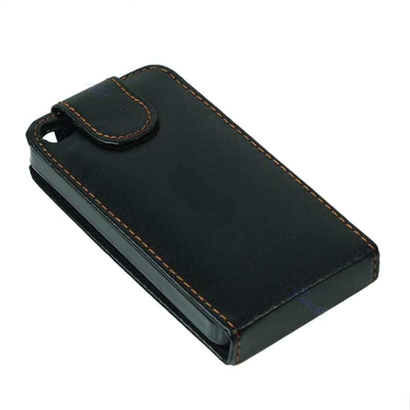 Y92 inchLeather Flip Case Cover Pouch Protector Apple iPhone 4 4G 4S Black - on sale store