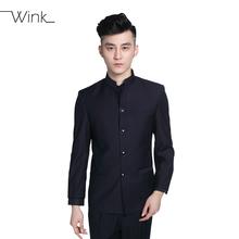Куртка + брюки китайские туника костюмы официальное заседание стенд воротник черный костюм уменьшают подходящие мандарин кнопки на передней классический Большой размер B008