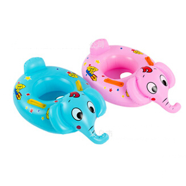 2015 New Inflatable Baby Boat Blue Pink Elephant Design Inflatable Pool Toys Swim Ring PVC Free Shipping Y42(China (Mainland))