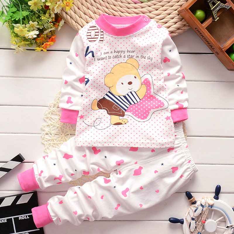 Гаджет  Baby Warm Clothing Set Roupa Infantil 2015 Baby Shoulder Buckle 2 Piece Set Infant Baby Boy Girl Bear Clothes Kids Clothing Set None Детские товары