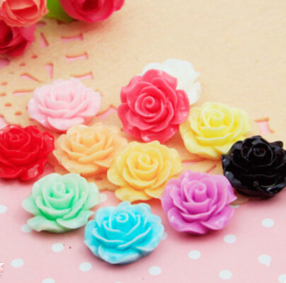 nw arrival 50pcs/ Korean 18mm resin flower roses flat back Cabochon For phone deco diy children hair accessories(China (Mainland))